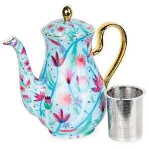 Botanical Teapot Tall Blue - T2 APAC Botanical Teapot Tall Blue - T2 APAC