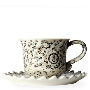 T2 By Iggy & Loulou Tea Cup And Saucer Set, Porcelain 200ml T2 By Iggy & Loulou Tea Cup And Saucer Set, Porcelain 200ml