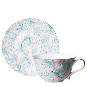 The Darling Buds Pink Cup and Saucer - T2 APAC Pink-Pattern