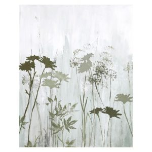 """Wild Flowers In The Mist"" Stretched Canvas Oil Painting Wall Art, 100cm"